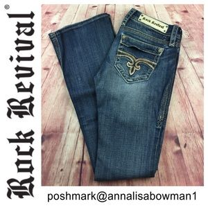 💙Rock Revival Cecilia Bootcut Denim Jean size 26